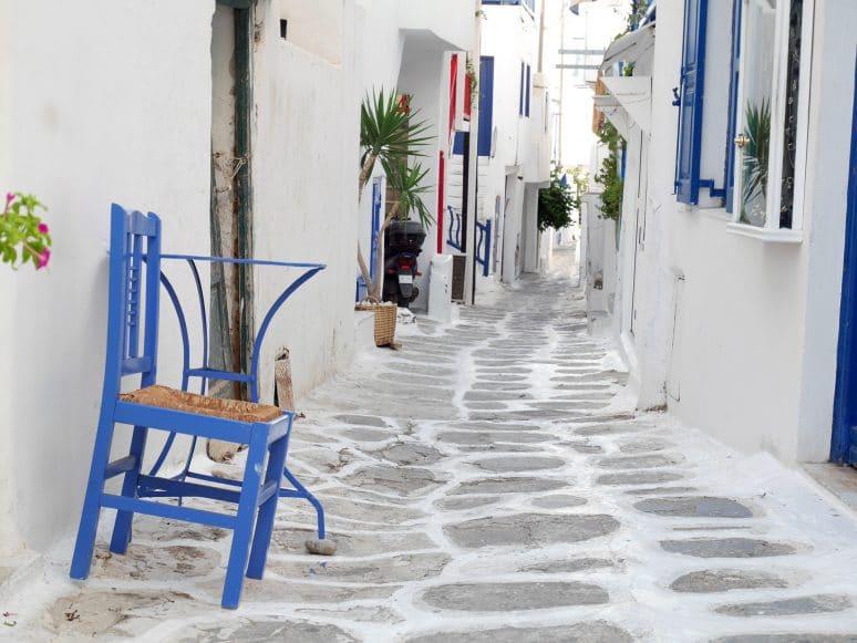 Les ruelles de la ville de Mykonos